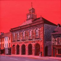 Midleton Library Building: A Study in Red by eastcorkpainter