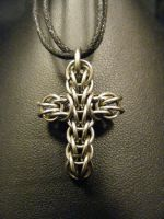 steel persian cross by BacktoEarthCreations