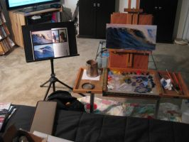 Painting setup at home by PiratoLoco