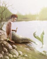 Kyungsoo mermaid by AyaTaibono