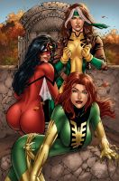 Changes Color Marvel Girls by MARCIOABREU7
