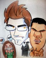 Edward and Jacob caricature by marcocano