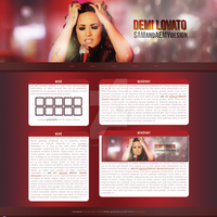 Free Demi Lovato FTP Design - Layout - Template by Aemy-neechan