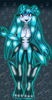 Seleana with sexy fish legs -The sexy fish gal- by SeleanaMermaid-Kechi