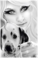 Me and my dog by BreathlessMelodyArt
