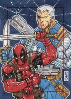 marvel 70th deadpool cable by johnjackman