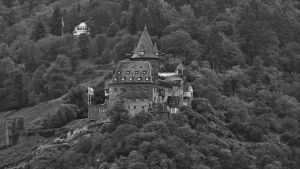 Castle Stahleck monochrome by UdoChristmann