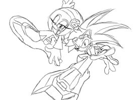 Sketch of Speedy and Zeta by speedemon31