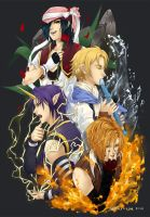 AoH: The Four Elemental Heroes by Lilbang