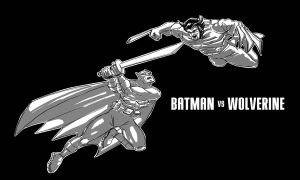 batman vs wolverine by jinspikec