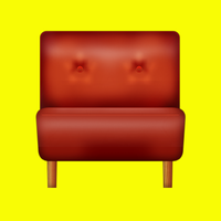 Leather chair icon by yamshing