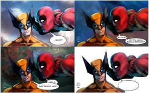 Wolverine/Deadpool Mix shots by gregscottbailey