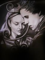 Cosette and Marius. by Joezart