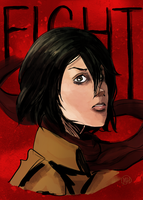 Mikasa by monkette