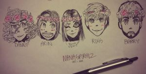 Game Grumps Flower Crowns by nana3192