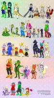 All of Sharp Shooter's characters by DrJavi