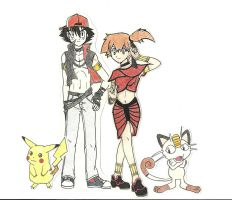 Ash and Misty by Cleopatrawolf