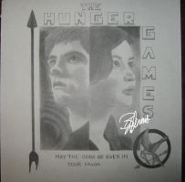 Peeta and Katniss Portrait by GlitteryOpalLotus