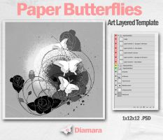 Paper Butterflies by Diamara