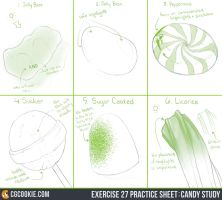 Exercise 27 Practice Sheet: Candy Study by CGCookie