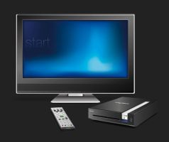 Shuttle X200 + TV and remote by Lyrilith