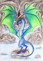 Blue Dragon by DragonKecks