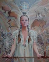 White Buffalo Woman by sami-edelstein