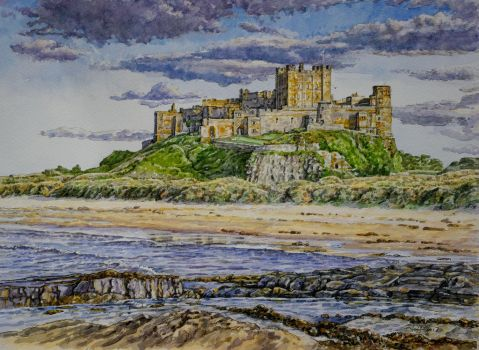 Early evening....Bamburgh Castle, Northumberland. by jeffsmith1955