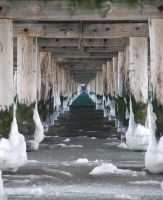 under the pier - winter by vollyy
