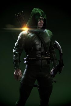 Me as Arrow (tv series Character) by rayspirit