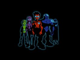 Teen Titans Wall by turnpaper