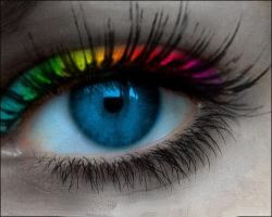 blue rainbow eye by qwerty5678