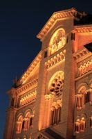 Glowing cathedral in Monaco by cscmatrix