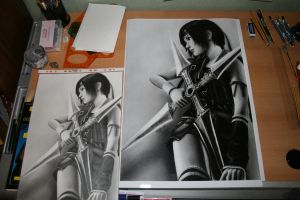 :YUFFIE original and print: by Angelstorm-82