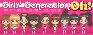 SNSD Oh SPAO chibi  complete by squeegool