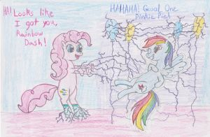Pinkie's Prank on Rainbow Dash by DarkKnightWolf2011