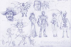 Sept2014 sketchdump03 by LemonadeHus