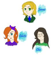 The kids of Alice and Hatter by GhostCrabDelight