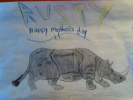Rusty the Rhino (happy mothers day 2010) by socks-15