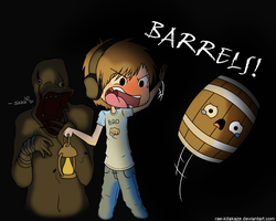 BARRELS!! -colored- by Rae-Kitakaze