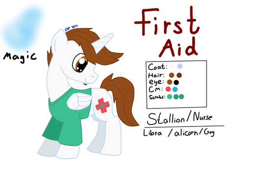 First Aid (ponysona) reference by Dylan-the-dude