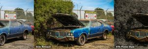 1972 Oldsmobile Cutlass 2 Minute Retouch by kerimheper