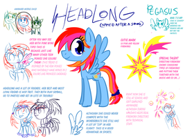 Meet Headlong the Pegasus by Reporter-Derpy