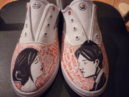 My Chemical Romance Shoes by RadioactivePencil
