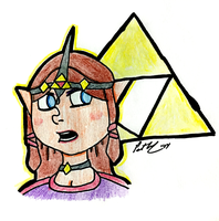 Triforce Zelda by chelano
