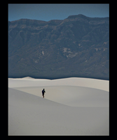 ALONE AT WHITE SANDS by CorazondeDios