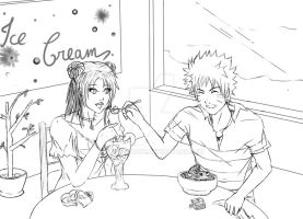 V-day's afternoon - NaruTen by AnneClaude