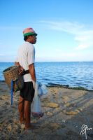fisherman at sanur by bloodkeniten