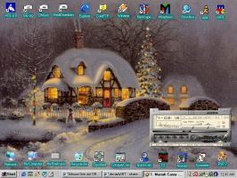 Christmas Night Desktop by Heidi