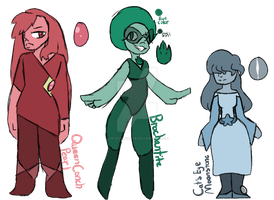 Gems 6-Customs by ArtsySquirtle